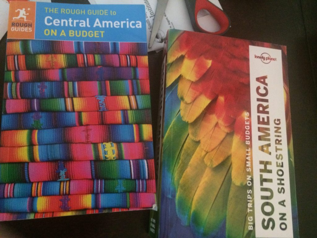 South and Central America travel books